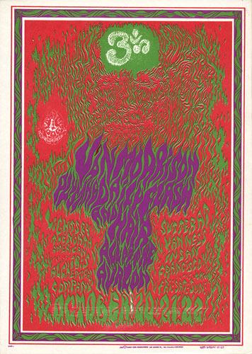 FD # 88 Van Morrison Family Dog postcard FD88