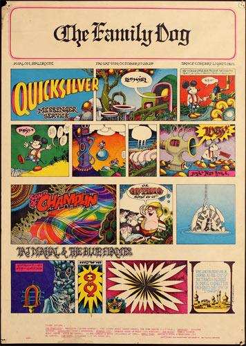 FD # 89-1 Quicksilver Messenger Service Family Dog Poster FD89