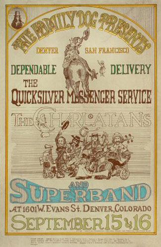 FD # D-2-1 Quicksilver Messenger Service Family Dog Poster FDD-2