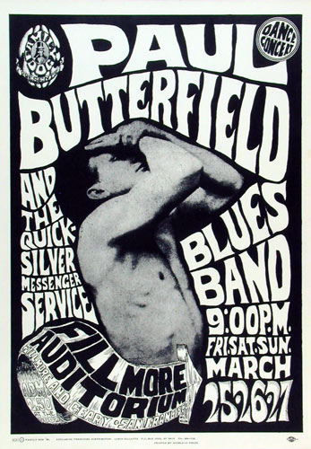 FD # 3-3 Paul Butterfield Blues Band Family Dog Poster FD3