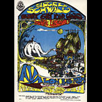 FD # 105 Hour Glass (Allman Brothers) Family Dog postcard - stamp back FD105