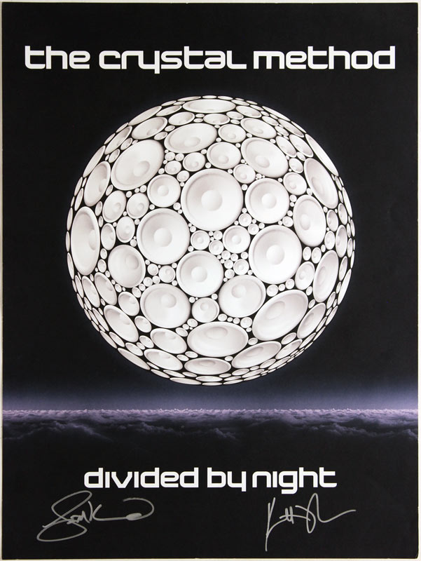 The Crystal Method - Divided By Night Album Release Promo Autographed Poster