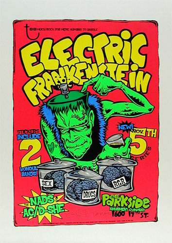 Dirty Donny Electric Frankenstein Dirty Donny Poster
