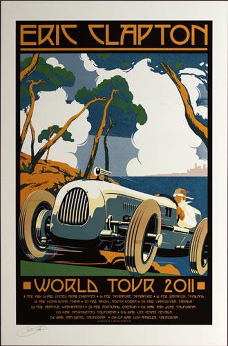 Ron Donovan - Firehouse Eric Clapton World Tour 2011 Asia and West Coast Poster
