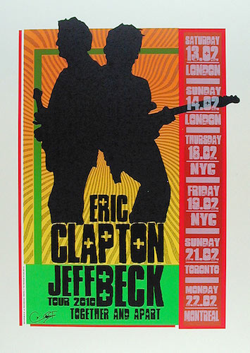 Firehouse Eric Clapton and Jeff Beck 2010 Tour Poster