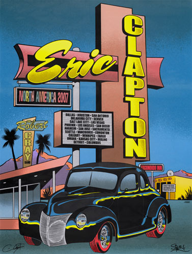 Chuck Sperry - Firehouse Eric Clapton Poster