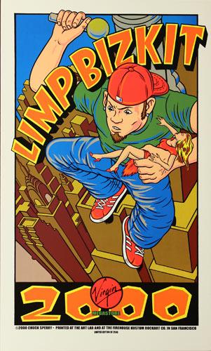 Chuck Sperry - Firehouse Limp Bizkit - Virgin Megastore Giveaway 2000 Poster