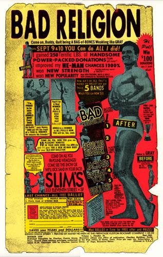 Firehouse Bad Religion 2003 Poster