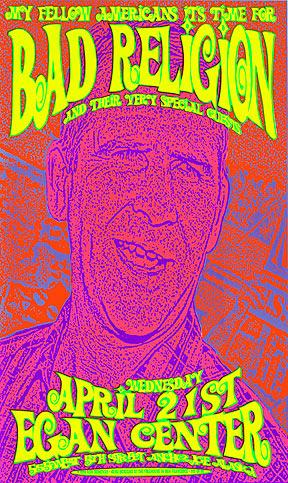 Firehouse Bad Religion Bush Poster