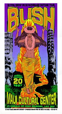 Chuck Sperry - Firehouse Bush Poster