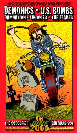 Chuck Sperry - Firehouse Demonics Biker Poster