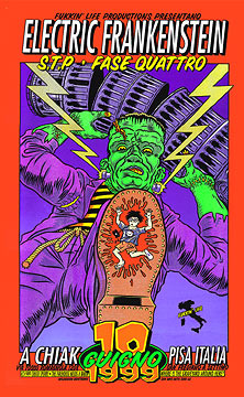 Chuck Sperry - Firehouse Electric Frankenstein Italy Poster