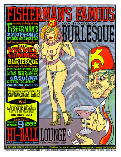 Chuck Sperry - Firehouse Fishermans Famous Burlesque 1999 Poster