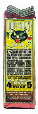 Firehouse Hootenanny 98 with Social Distortion X Poster
