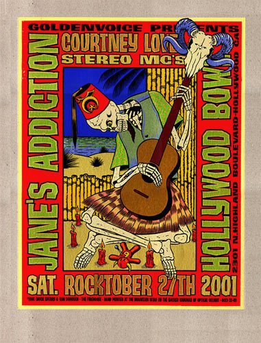 Chuck Sperry - Firehouse Jane's Addiction Poster