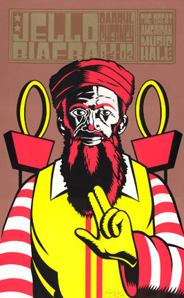 Chuck Sperry - Firehouse Jello Biafra Poster
