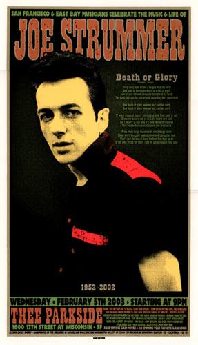 Chuck Sperry - Firehouse Joe Strummer Memorial Poster