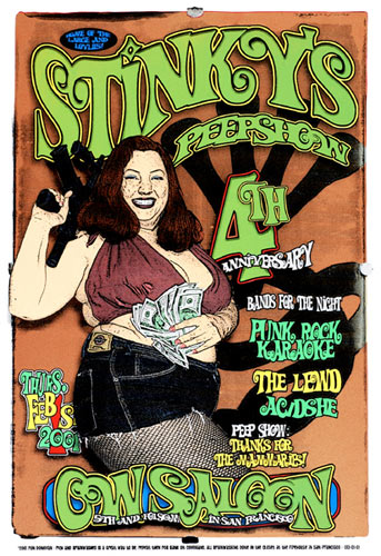 Firehouse Stinky's Peepshow Poster