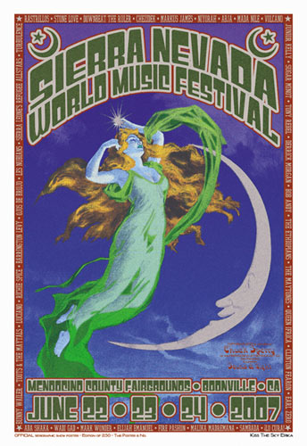 Chuck Sperry - Firehouse Sierra Nevada World Music Festival  Poster