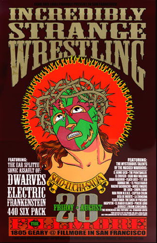 Firehouse Incredibly Strange Wrestling Dwarves Poster