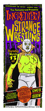 Chuck Sperry - Firehouse Incredibly Strange Wrestling SXSW Poster