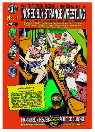 Chuck Sperry - Firehouse Incredibly Strange Wrestling EC1 Poster