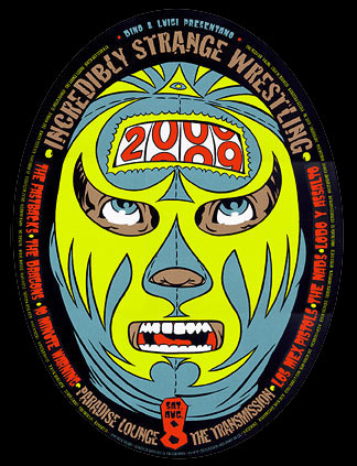 Chuck Sperry - Firehouse Incredibly Strange Wrestling Y2K Poster
