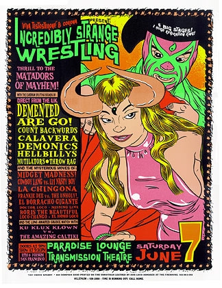 Chuck Sperry - Firehouse Incredibly Strange Wrestling Matador Poster