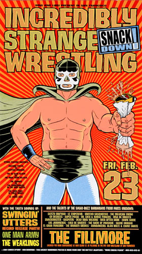 Chuck Sperry - Firehouse Incredibly Strange Wrestling Snack Down Poster
