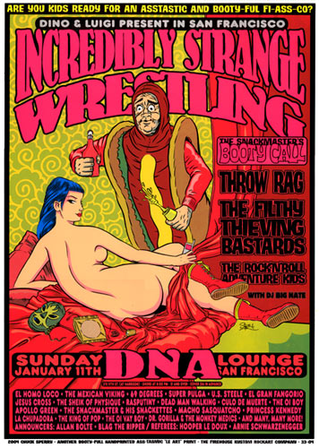 Chuck Sperry - Firehouse Incredibly Strange Wrestling Hot Dog Poster