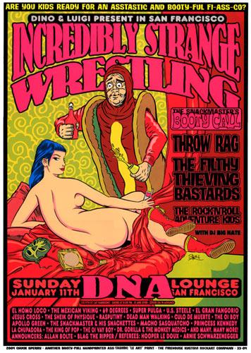 Chuck Sperry - Firehouse Incredibly Strange Wrestling Hot Dog Poster
