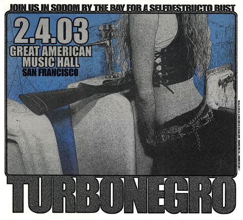 Firehouse Turbonegro Urinal Poster