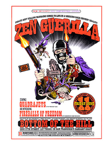 Alan Forbes and Firehouse Zen Guerilla Poster
