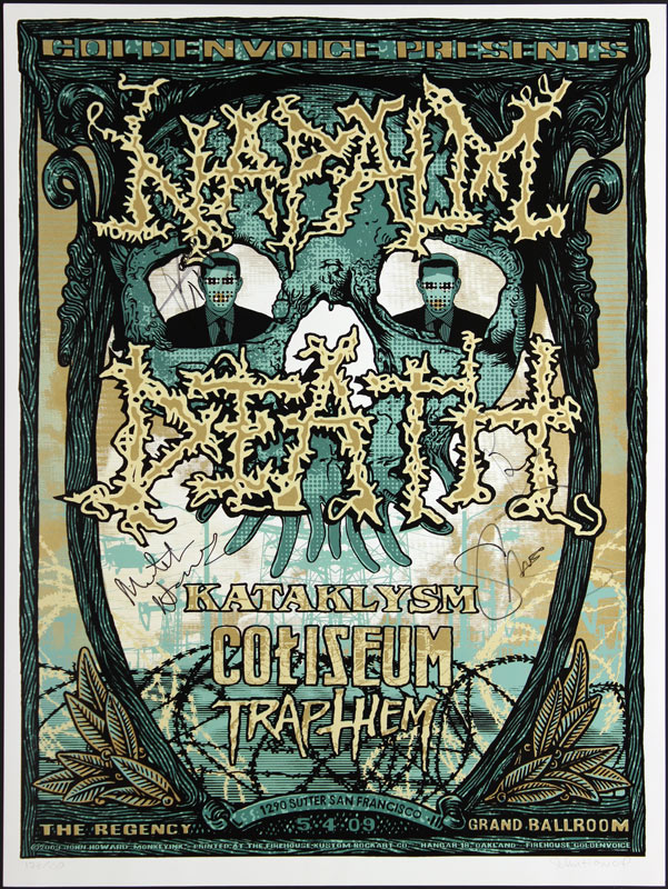 John Howard Napalm Death Autographed Poster