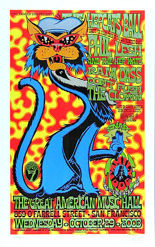 Chuck Sperry Hepcat's Ball Phil Lesh Family Dog Poster