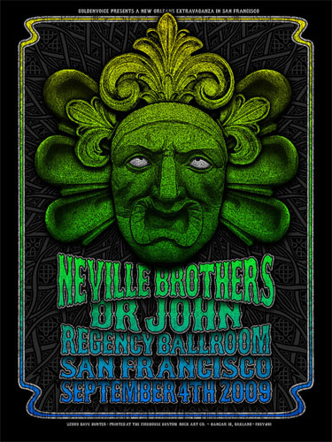 Dave Hunter - Firehouse Neville Brothers Poster