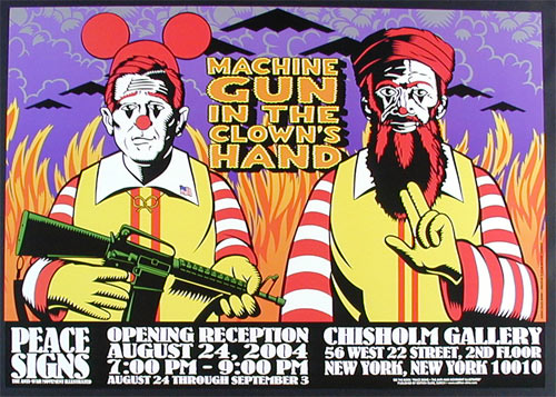 Firehouse Machine Gun In The Clown's Hand Poster