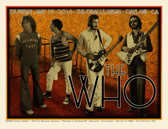 Chuck Sperry, Photo by Michael Zagaris The Who Poster