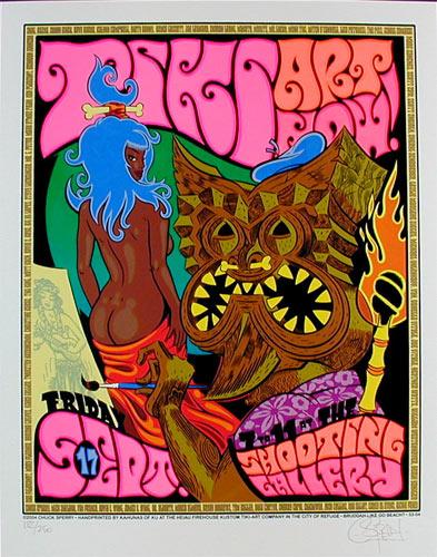 Chuck Sperry - Firehouse Tiki Art Show With Mark Ryden Poster