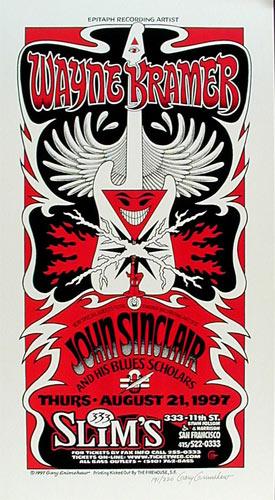 Gary Grimshaw Wayne Kramer Poster
