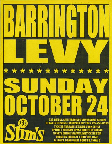 Barrington Levy Flyer