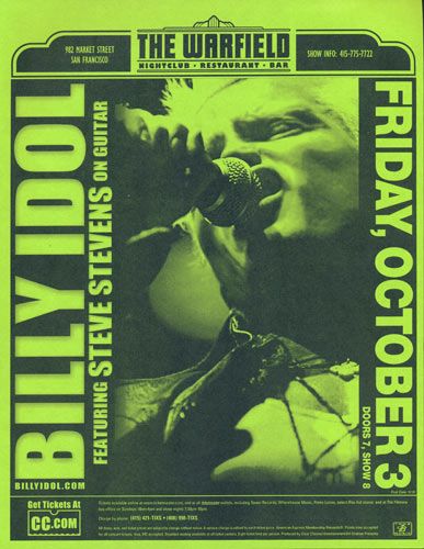 Billy Idol Flyer
