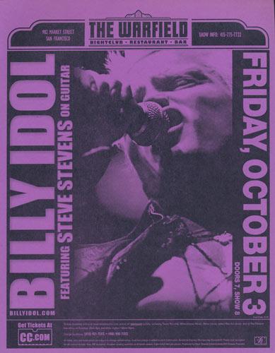 Billy Idol Flyer