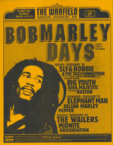 Bob Marley Days Flyer