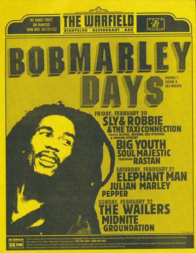 Bob Marley Days Flyer
