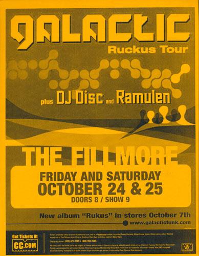 Galactic (Ruckus Tour) Flyer
