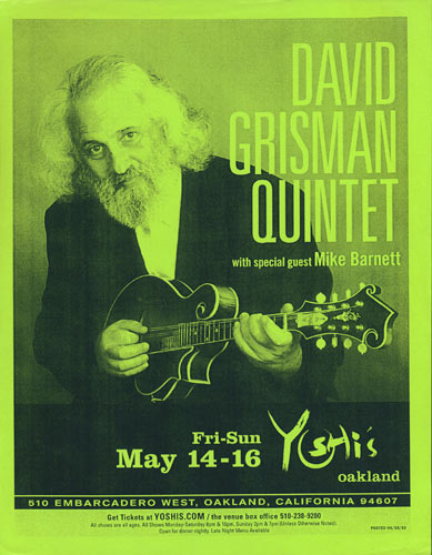 David Grisman Quintet Flyer
