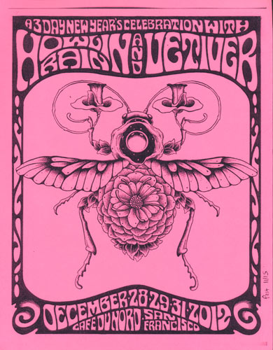 Alan Forbes Howlin' Rain and Vetiver Flyer