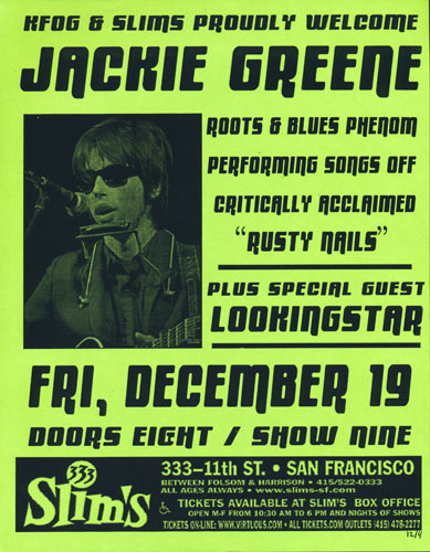 Jackie Greene Flyer