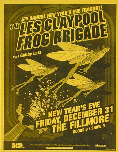 The Les Claypool Frog Brigade Flyer